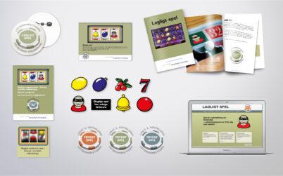 Banners, logga, broschyr, illustrationer, annonser  m.m.<br>Lotteriinspektionen